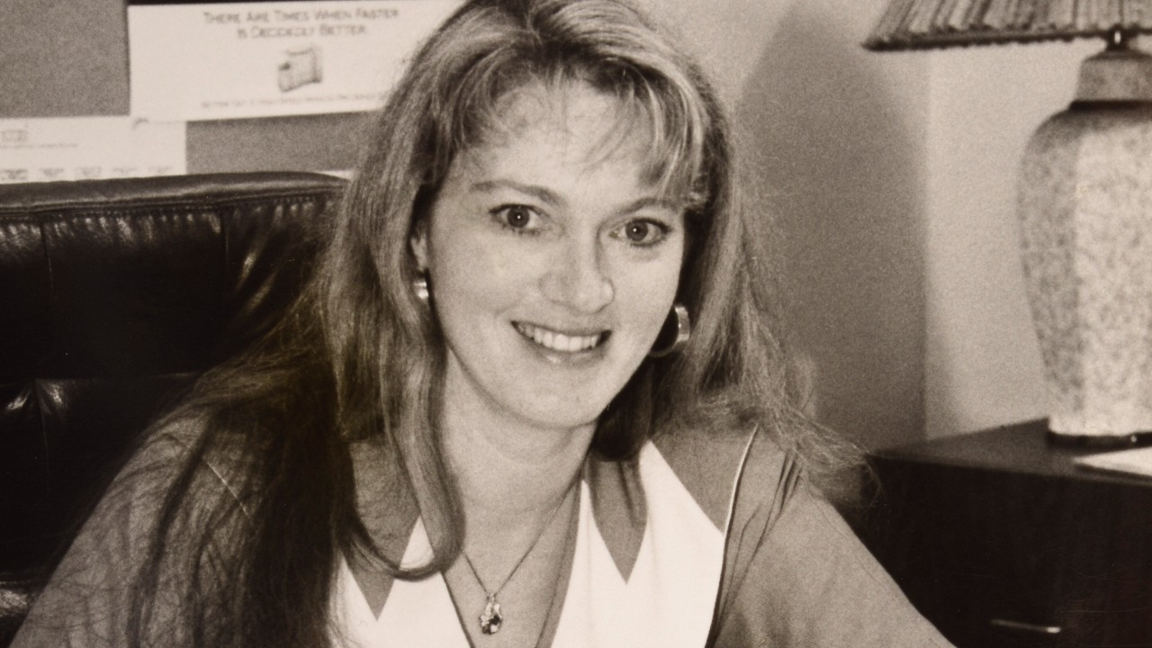 Karen Buchwald-Wright,in the 1980's, when she first joined Ariel Corporation