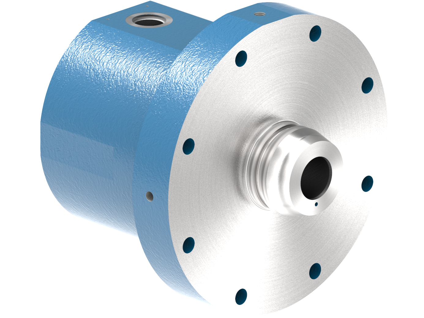 A rendering of a Cylinder Part from a Small Line Compressor