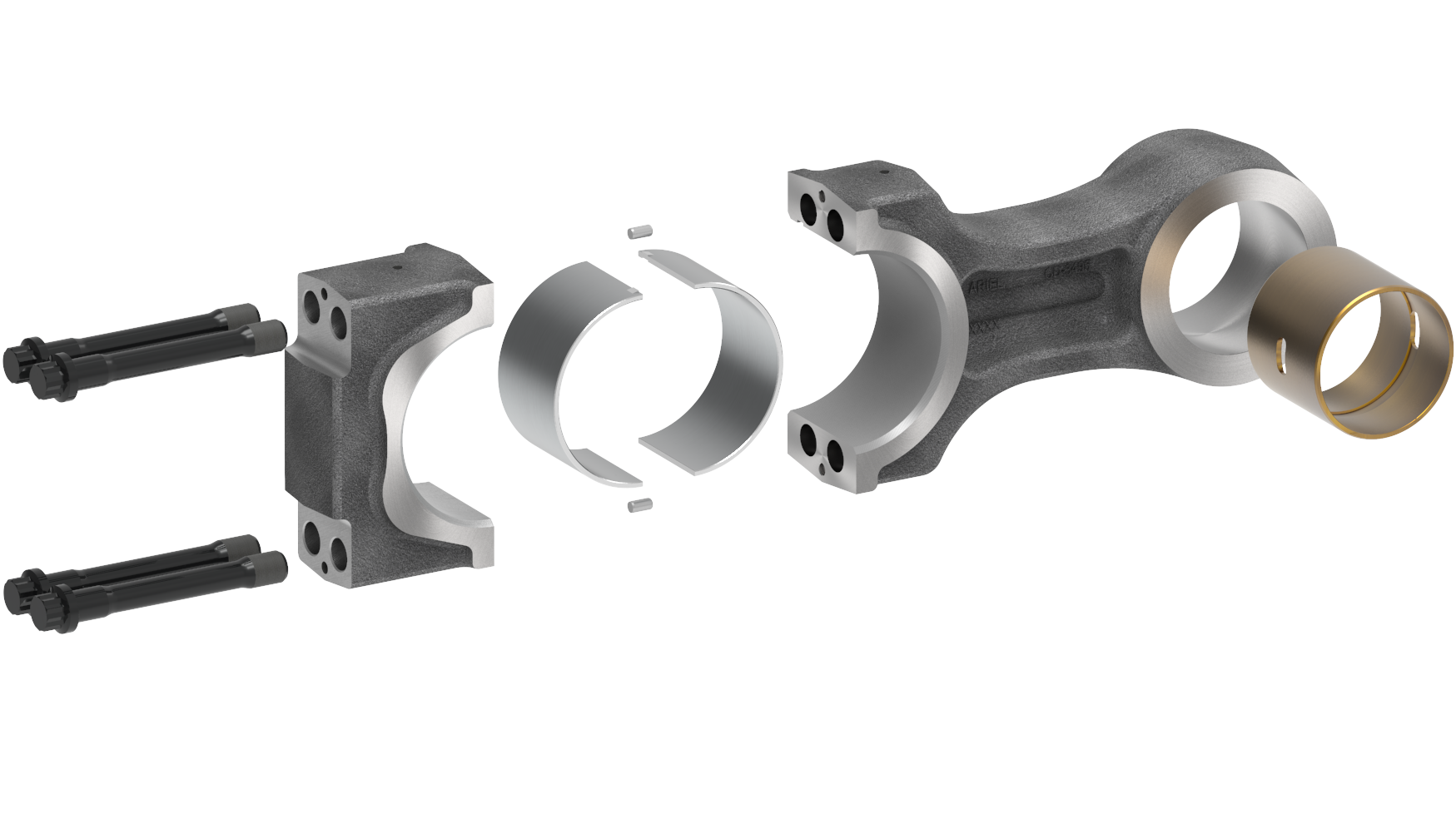 Large Line Connecting Rod Disassembled