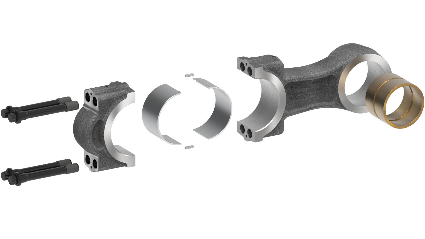 Mid Line Connecting Rod Disassembled