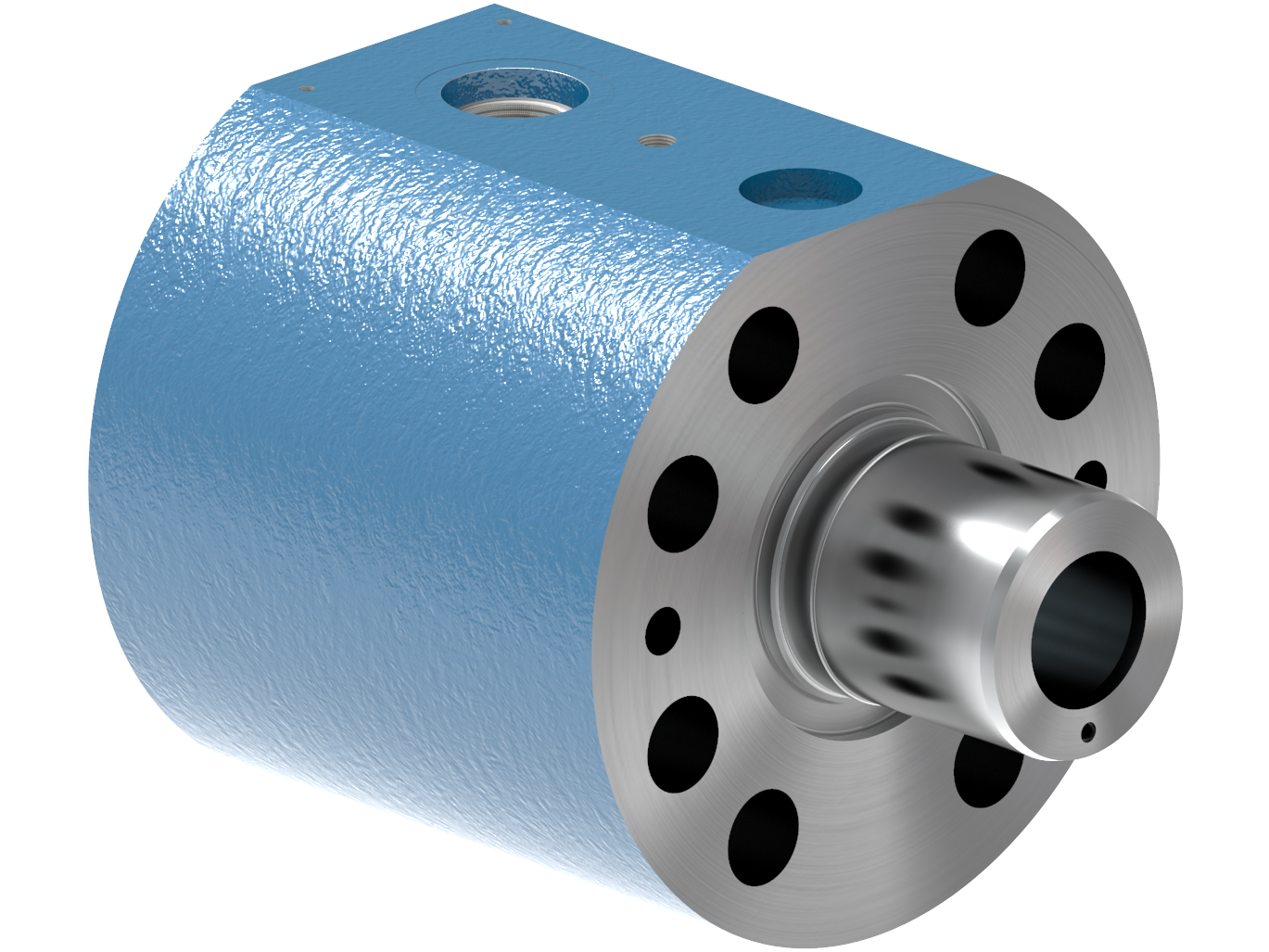 A rendering of a Cylinder Part from the KB100