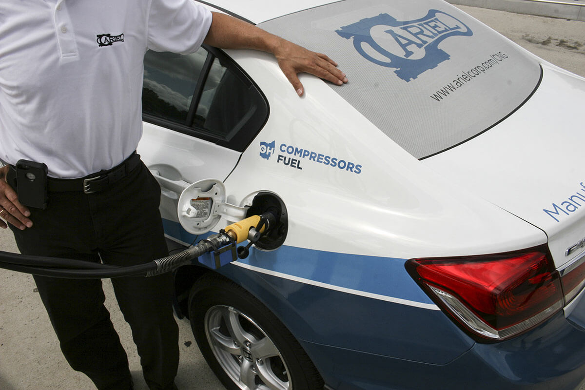 Fueling an Ariel CNG Civic