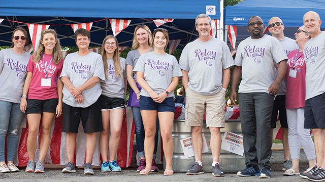 Employees from Ariel Corporation at Relay for Life